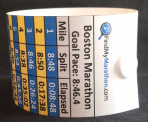 Boston Marathon Pace Bands